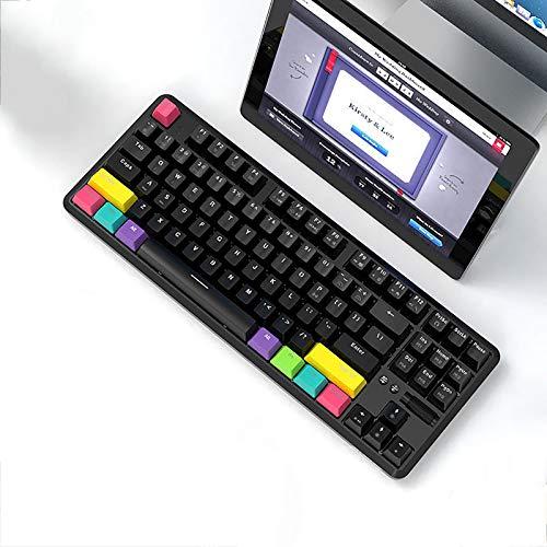 XIAOPENG Clavier de Jeu Mécanique sans Fil 887Keys, Clavier Mécanique à Double Mode Bluetooth, pour Tablette, Téléphone Portable, Ordinateur de Bureau