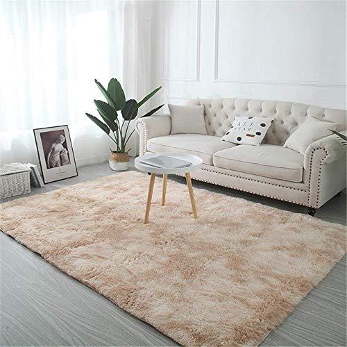 DGHJK Moderne Teppiche Für Wohnzimmer, Badezimmer Teppiche Fluffy Teppich Schlafzimmer Beige...