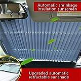 JWR Parabrezza Pieghevole Parasole Auto Visor Heat Block Anti UV Adatto per Auto Piccole, Medie, SUV, Veicoli Commerciali, monovolume,70CM