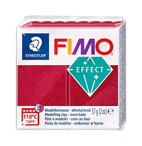 Staedtler - Fimo Effect - Pain Pte à Modeler 57 g Effet Métallique Rouge Rubis