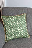 Samantha Hall Design Golden Labrador - Funda de cojín de algodón ecológico