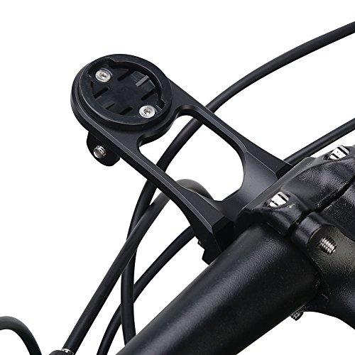 Dioche Fahrrad Verlängerungshalterung, Radfahren Fahrrad Fahrrad Computer Halterung Halter Aluminiumlegierung Stem Erweiterung Halterung(Schwarz)