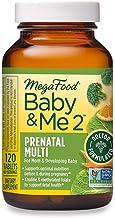MegaFood, Baby & Me 2, Prenatal and Postnatal Vitamin with Active Form of Folic Acid, Iron, Choline, Non-GMO, 120 Tablets