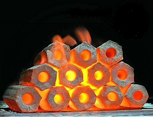 Kokos Grill Briketts Holzkohle Grillkohle Turquoise 10 kg > brennt fünf Stunden <