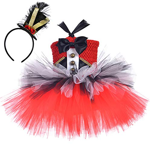 Tutu Dreams Circus Costume for Kids Girls Christmas Nutcracker Dress Pageant Holiday Masquerade Birthday Party (Ringmaster, 5-6X)