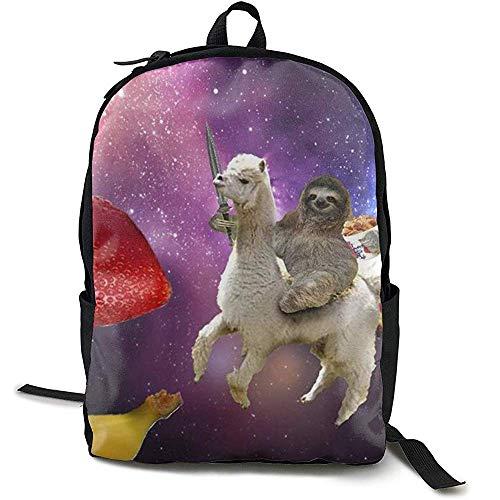 School Tas, Zakelijke Dun en Duurzaam Reizen Rugzak - Universiteit Mannen en Vrouwen Computer Tas - Grappige Sloth Riding Llama