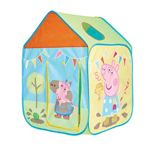Peppa Pig Wendy House Playhouse - Pop Up Role Play Tent, Pink