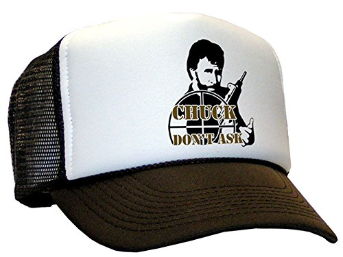 Bastart Chuck Norris Don't ask for Casquette en maille Marron