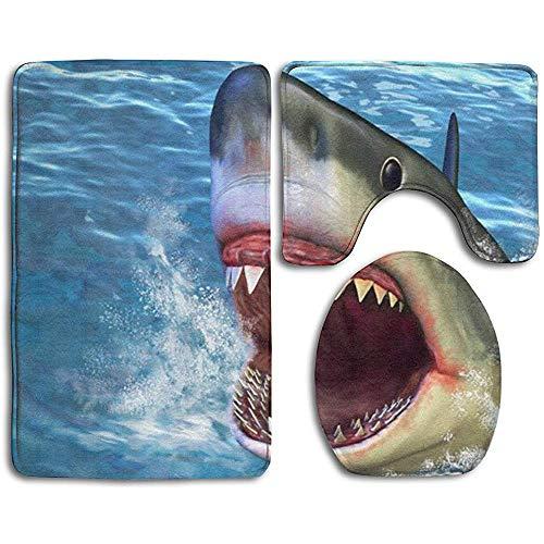 Alfombras de baño Pintura 3D Tiburón Alfombrillas de baño