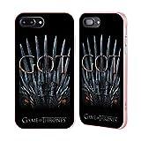 Head Case Designs Oficial HBO Game of Thrones Trono del Dragón Temporada 8 Key Art Caso de Guardabarros Compatible con Apple iPhone 7 Plus/iPhone 8 Plus