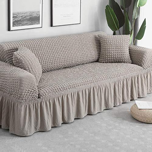 Funda de sofá elástica Estampada, Antideslizante, Resistente al Desgaste, fácil de Limpiar, protección de sofá-2 plazas 120-170cm_