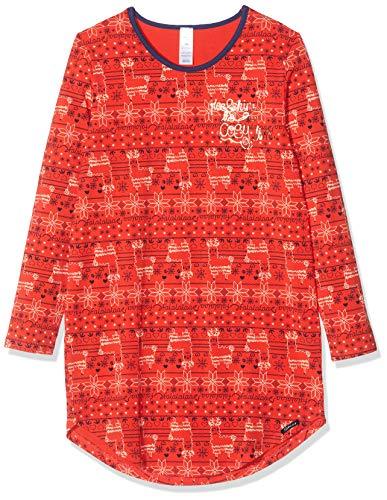 Skiny Mädchen Cosy Night Sleep Girls Sleepshirt Langarm Nachthemd, Mehrfarbig (Poppyred Lama 2181), (Herstellergröße: 152)