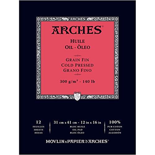 ARCHES 1795109ölpapier, algodón, Blanco, 41x 1x 1cm