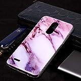 Dmtrab Phone Case for LG K10 (2018) Cas, Motif de marbre Doux TPU Coque de Couverture de Protection...