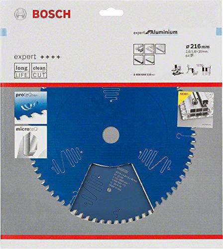 Bosch Kreissägeblatt Expert für Aluminium, 216 x 30 x 2,6 mm, Zähnezahl 64, 1 Stück, 2608644110 - 3