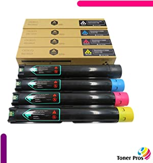 Toner Pros (TM) Compatible [High Capacity] Toner for Xerox Versalink C7000 Printer (4 Color Pack) - Black 10,700 and Colors 10,100 Pages (106R03757, 106R03758, 106R03759, 106R03760)
