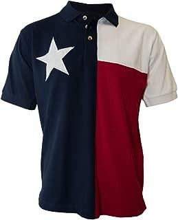 Tiger Hill Men's Texas Flag Polo Shirt