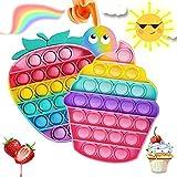 Push po-p Bubble, Po-p it Fidget Toy Juguetes Antiestres Sensoriales Tablero de Ajedrez Arcoíris Educativo para Aliviar el Estrés, Juguetes Antiestres Adecuado para Autismo Ansiedad Niños y Adultos