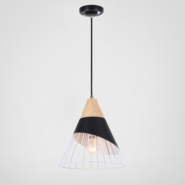 Ywyun Loft lustres créatifs nordiques, restaurant plafond LED moderne et minimaliste, café bar américain lustre en fer forgé décoratif (Taille   Single head)