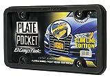 BumpTEK Plate Pocket (Slim LINE Edition) Flexible Rubber Front Bumper Guard, Front Bumper Protection, License Plate Frame. Flexible Rubber Cushions Parking Bumps!
