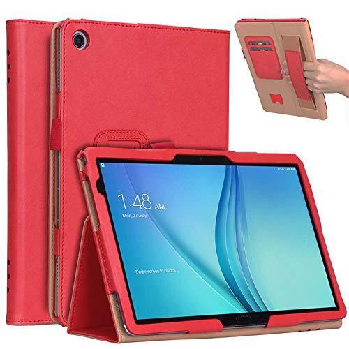 Für Huawei MediaPad M5 Lite 10 Ledertasche Ständer Tablet Cover Für Huawei M5 Lite 10.1 BAH2-W19 BAH2-L09 BAH2-W09-rot