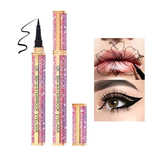 Onlyoily Eyeliner waterproof, eyeliner liquido impermeabile, antisudicio,24 ore a lunga durata (nero)
