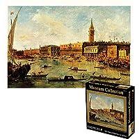 ジグソーパズル 世界的に有名な絵画忙しい港のジグソーパズル-1000ピース-大きなジグソーパズル-ユニークなカット連動部分-27.56 x 19.69インチ(ギフト) BBJOZ