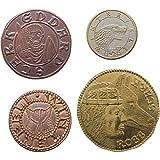 The Shire Post- Juego De Tronos Set 4 Monedas Casa Stark, Multicolor (SPMI-GM-ST-HS4)