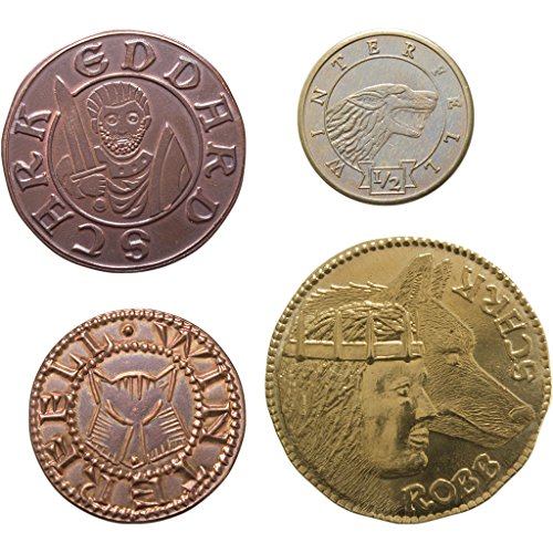 The Shire Post- Game of Thrones set 4 munten Casa Stark, meerkleurig (SPMI-GM-ST-HS4)
