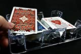Deluxe Revolving Cardian Brand Playing Card Tray or Caddy, Used for Two (2) Decks of Cards - Plastic - Made in U.S.A.