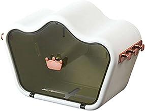 Toiletrolhouder, zelfklevend, wandmontage toiletrolhouder, met waterdichte en stofkap, van toepassing rolpapier-wit