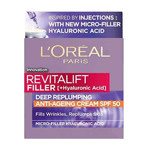 L'Oreal Paris Revitalift Filler + Hyaluronic Acid Anti Ageing Anti-Wrinkle Spf 50 Replumping Day Cream 50Ml