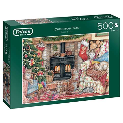 Jumbo 11239 - Falcon de Luxe-Christmas Cats, 500-delige puzzel