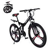2020 New Mountain Bike 21 Speed 3 Spoke 26in Double Disc Brake Bicycle Folding Bike for Adult Teens...