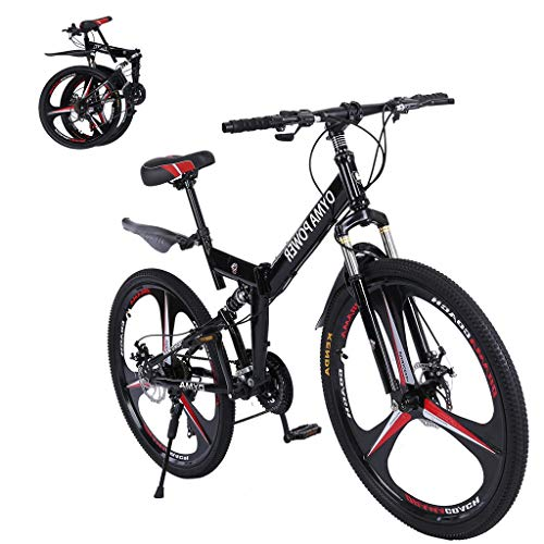 2020 New Mountain Bike 21 Speed 3 Spoke 26in Double Disc Brake Bicycle Folding Bike for Adult Teens...