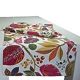 """beties """"Zauberwald"""" Tischläufer ca. 40x150 cm Tischband in interessanter Größenauswahl hochwertig & angenehm aus 100% Baumwolle (Elfenbein-bunt)"""