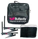 Butterfly Competition Clip - Kit da ping-pong con rete e piedini...