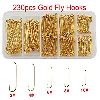 Fly Fishing Hooks Set High Carbon Steel Long Shank Streamer Fly Tying Fishing Hooks Fishing Tackle Kit with Box
