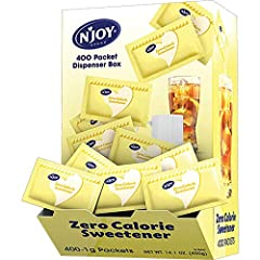N'Joy zero calorie sweeteners are available in the four most popular flavor profiles: Pink, Blue, Yellow and Green. This yellow sucralose comes in 400 individual count The yellow sucralose is satisfying the wide array of consumer taste preferences an...