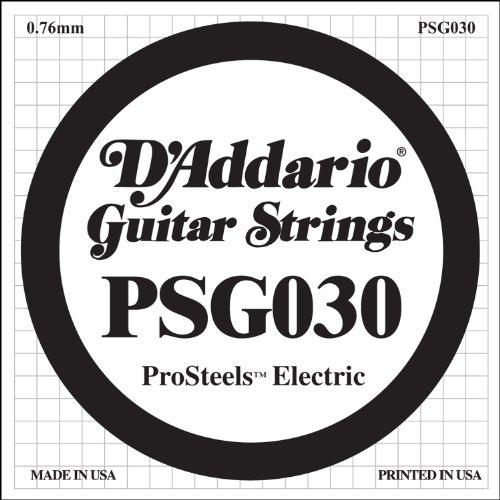 D'Addario PSG030 Pro Steels Round Wound E-Gitarre Einzelsaite 030