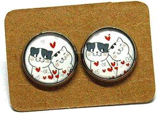 Orecchini Gatto - Orecchini acciaio - Idea regalo gattara - Amore