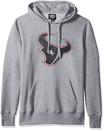 OTS NFL Houston Texans Men's Fleece Hoodie, Distressed Iced, Large>
