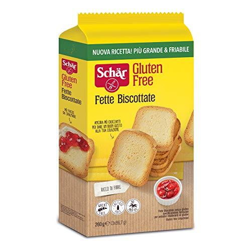 Schar Fette Biscottate Senza Glutine Zwieback gebackenem Brot 260g Glutenfrei
