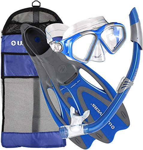 U.S. Divers Cozumel Snorkeling Set. Adult Snorkel Mask, Snorkel, Fins, and...
