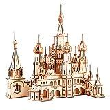 GuDoQi Puzzle 3D Madera, Maqueta de Catedral de San Basilio para Montar, Rompecabezas Madera 3D para Construir, Kit de Manualidades DIY, Juguete de Montaje, Pasatiempos para Adultos