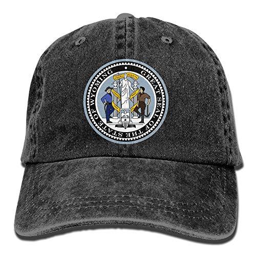 Gorras de béisbol ajustables Wyoming Western Meadowlark emblema vaquero estilo camionero gorra