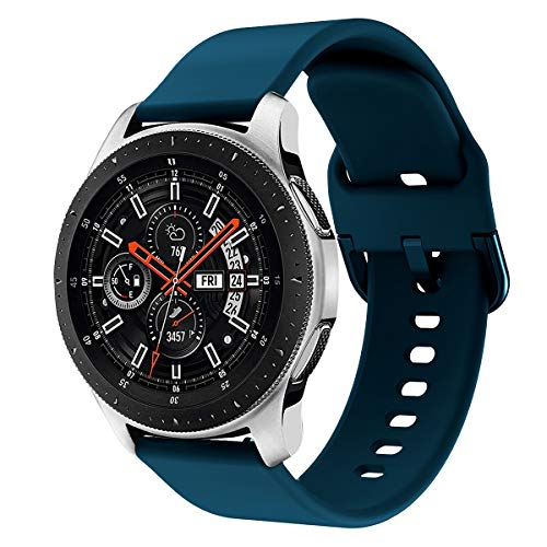 Syxinn Compatibile con 22mm Cinturino Galaxy Watch 46mm/Gear S3 Frontier/Classic Braccialetto Silicone Cinturini Fascia da Polso per Huawei Watch GT/GT 2 46mm/Moto 360 2nd Gen 46mm/Ticwatch PRO