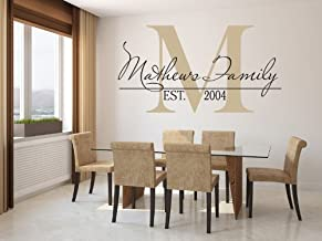 monogram wall decal stickers