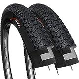Fincci Paire 26 x 2,125 Pouces 57-559 Pliable Pneus pour VTT Montagne Hybrid Vélo...