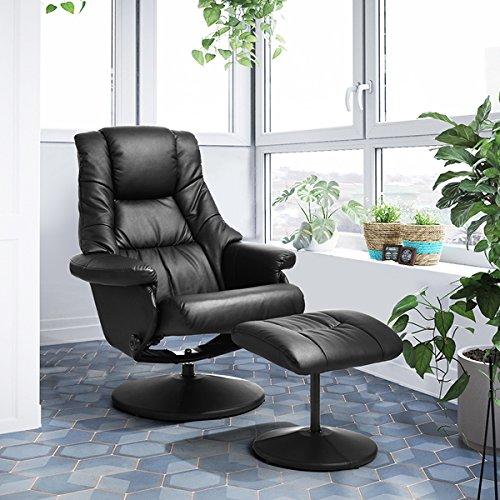 LeMonde Poltrona Relax Loisir Sedia da Ufficio Sedia da Ufficio reclinabile con poggiapiedi in PU Pelle Durable